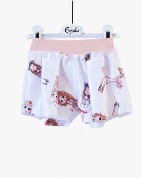 Shorts neonata Enylò fantasia bamboline