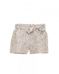 Shorts Neonata in Tessuto Pois