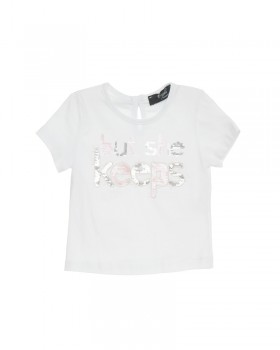 T-shirt Neonata con Ricamo (BUT SHE KEEPS)