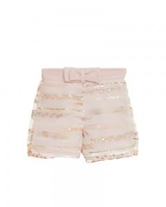 Shorts Neonata con Tessuto Ricamato