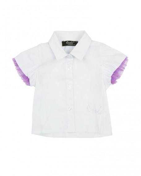 Camicia Neonata Enylò con Maniche con Applicazione in Rete