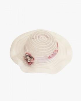 Cappello Bianco Enylò con Fascia e Fiore