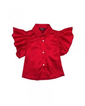 Camicia Baby Enylò in Rasatello, con Borkie e Laccetto