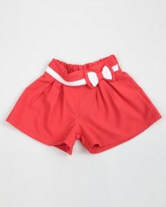 Shorts Con Pieghe E Fiocco A Contrasto Enylo