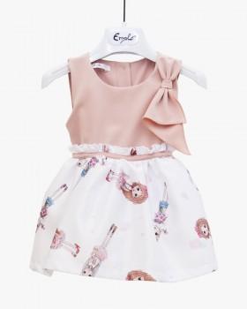 Vestito Neonata Enylò in Rosa con Fantasie Bamboline